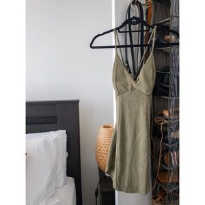 Mini suede dress